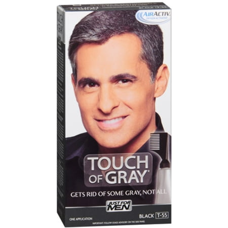 8d91df14458 JUST FOR MEN Touch of Gray Hair Treatment T-55 Black 1 Each (Pack of 4) -  Walmart.com
