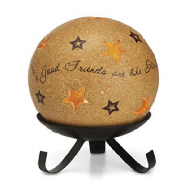 Pavilion Gift Company- Good Friends Candle Holder, 5 Inch