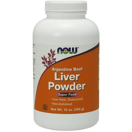 NOW Supplements, Liver Powder derived from Fresh, Hormone-Free Argentine Beef Liver,