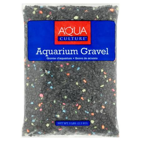 Saltwater Aquarium Gravel - Aqua Culture Neon Starry Night Aquarium Gravel, 5 lb