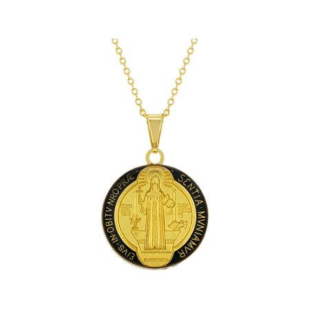 Saint Benedict Medal Reversible Religious Pendant Necklace 19