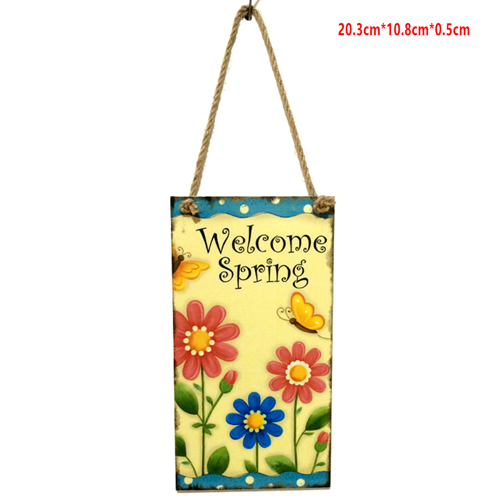 3-wood Easter//welcome//welcome Spring  Plaque