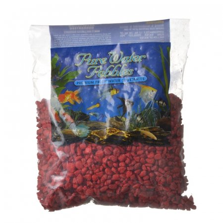 Pure Water Pebbles Aquarium Gravel Currant Red - 2 lbs - (Grain Size 3.1-6.33
