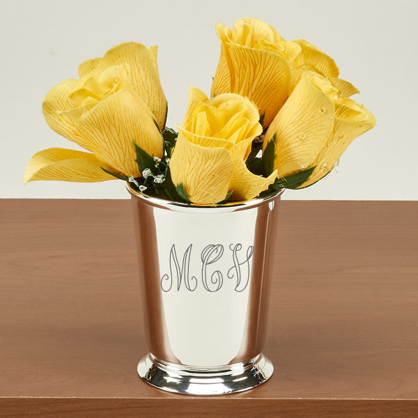 Personalized Silver Plated Mint Julep Cup