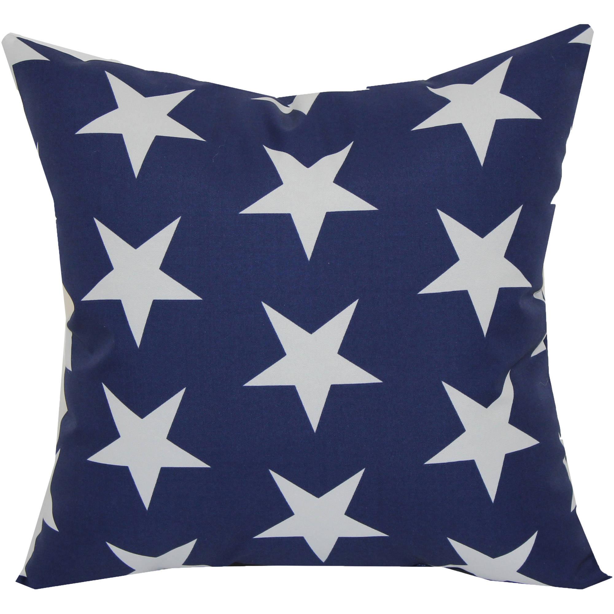 "Mainstays 16"" Stars Outdoor Pillow Walmart"