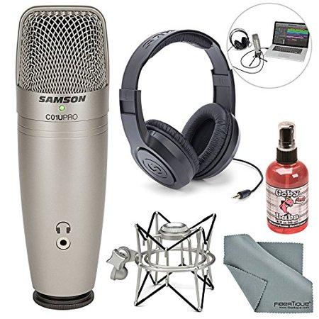 Samson C01U Pro USB Studio Condenser Microphone W/ Spider Shock Mount,
