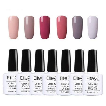 Elite99 Nude Series Gel Nail Polish Set Soak Off UV LED 6 Colors 10ml Elegant Manicure Nail Art
