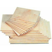 American Easel Baltic Birch Veneer Smooth Block Printing Panel, Multiple Sizes, Pack of 12