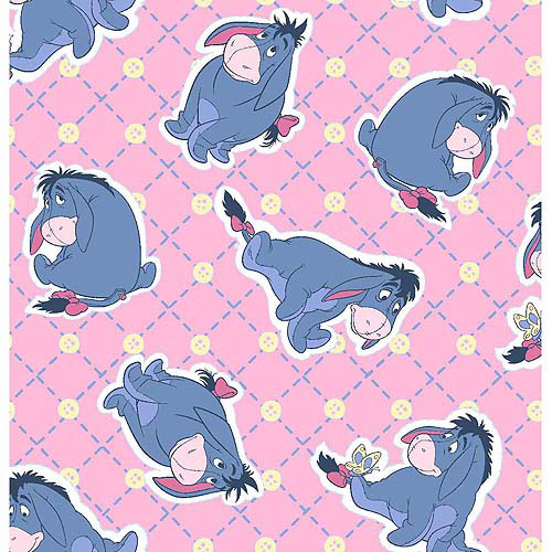 Disney Fleece, Eeyore So Blue, Pink, 59/