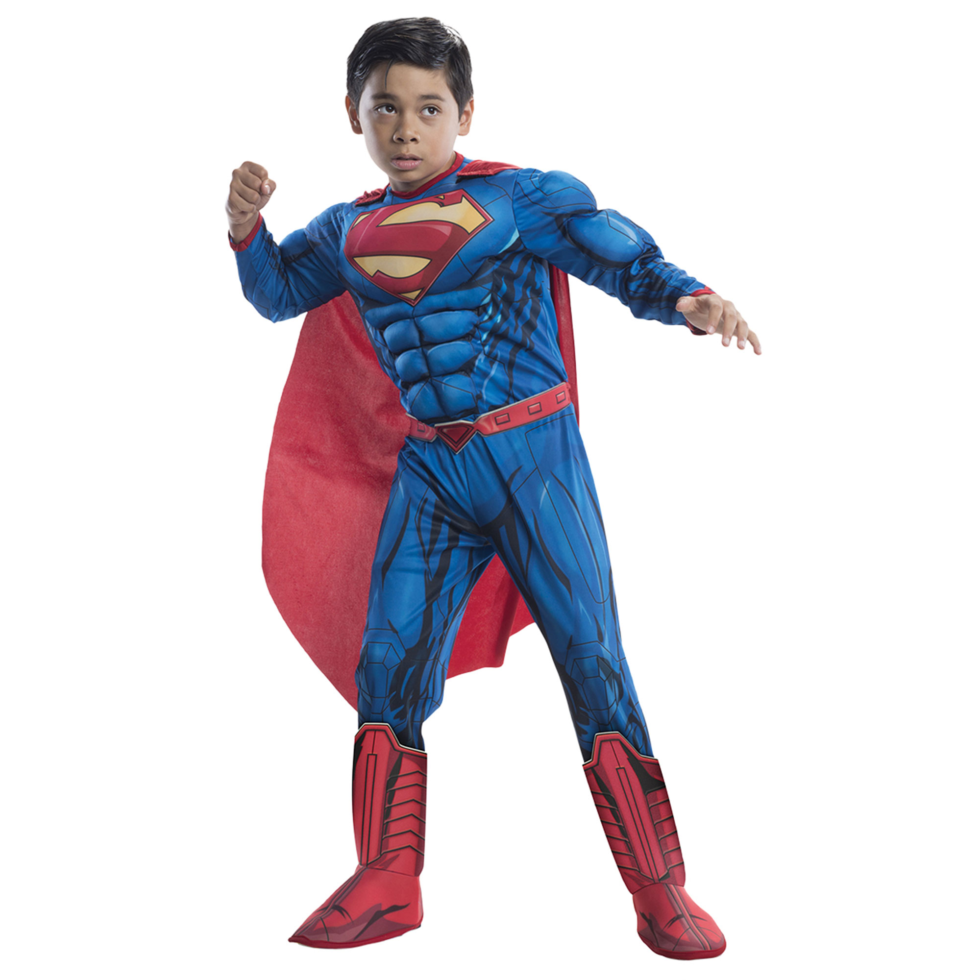 Morris Costumes Boys Superman Deluxe Padded Muscle Jumpsuit Large, Style RU610831LG