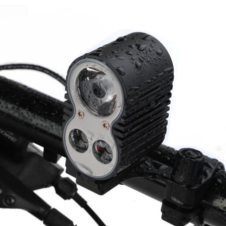 Bike Headlight, eFBeauty  1600 Lumens LED Super Bright Bike Light with Rechargeable 10400 mAh Battery, 5 Lighting Modes, Can Charge Smartphone or GPS and Be Powered by Power Bank