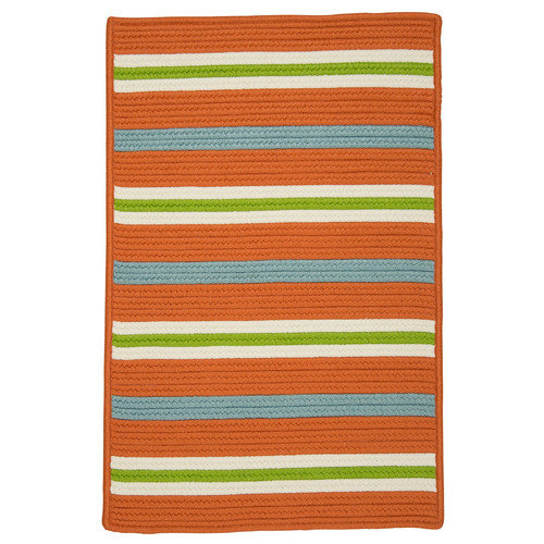 Colonial Mills Painter Stripe Tangerine Indoor/Outdoor Area Rug