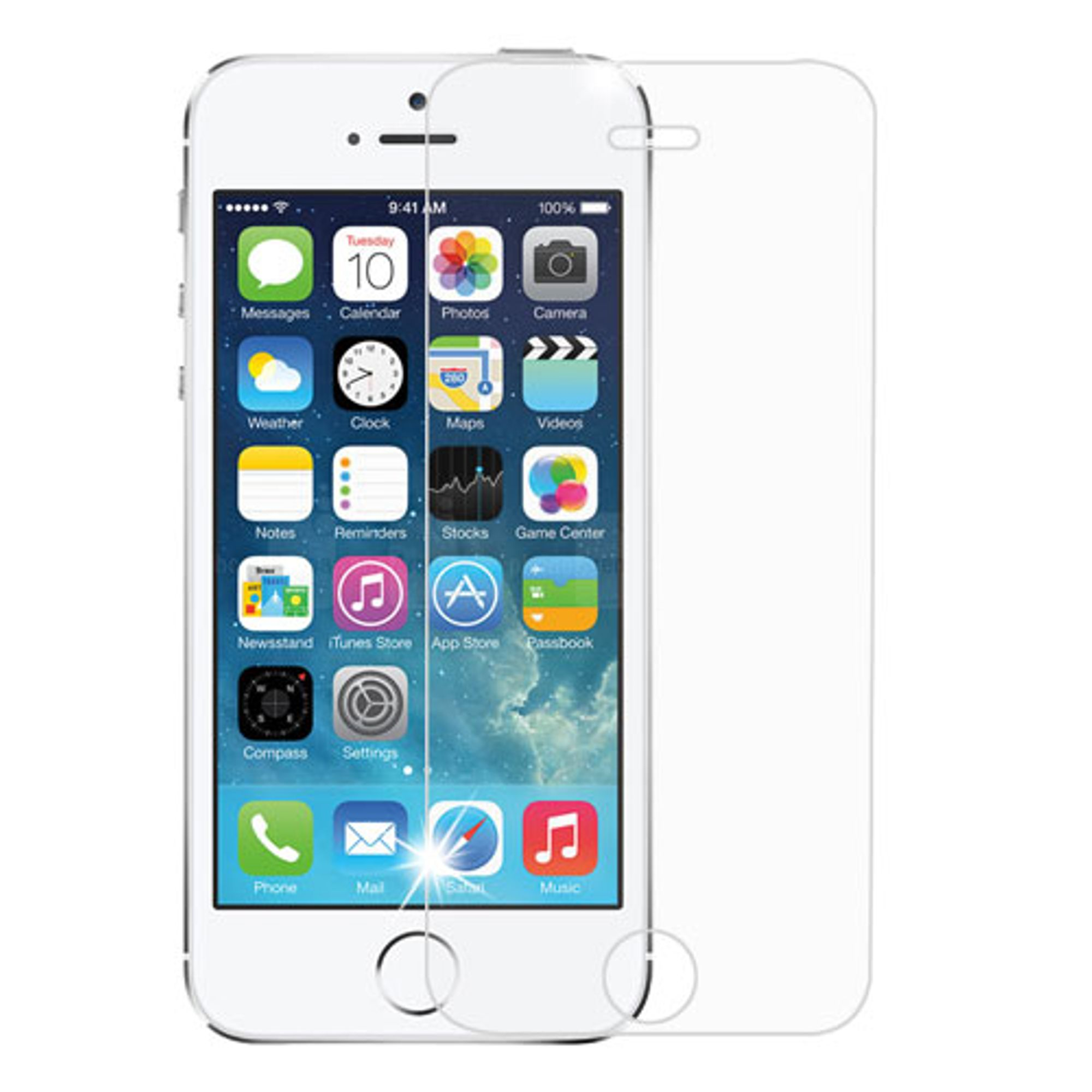 Insten 2.5D Tempered Glass LCD Screen Protector Film For Apple iPhone SE / 5 / 5C / 5S