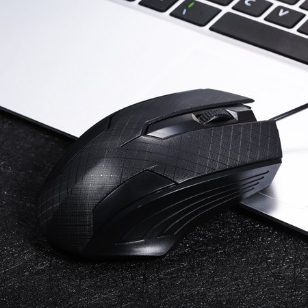 3-Button USB Optical Wired Mouse with 1 1M Cord Compatible