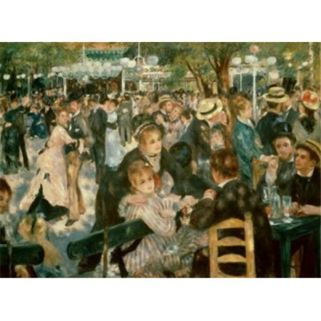 Superstock SAL9003788LARGE Ball At The Moulin De La Galette Montmartre 1876 Pierre-Auguste Renoir, 1841-1919 & French Oil On Canvas Musee DOrsay Paris Poster Print, 24 x 36 -