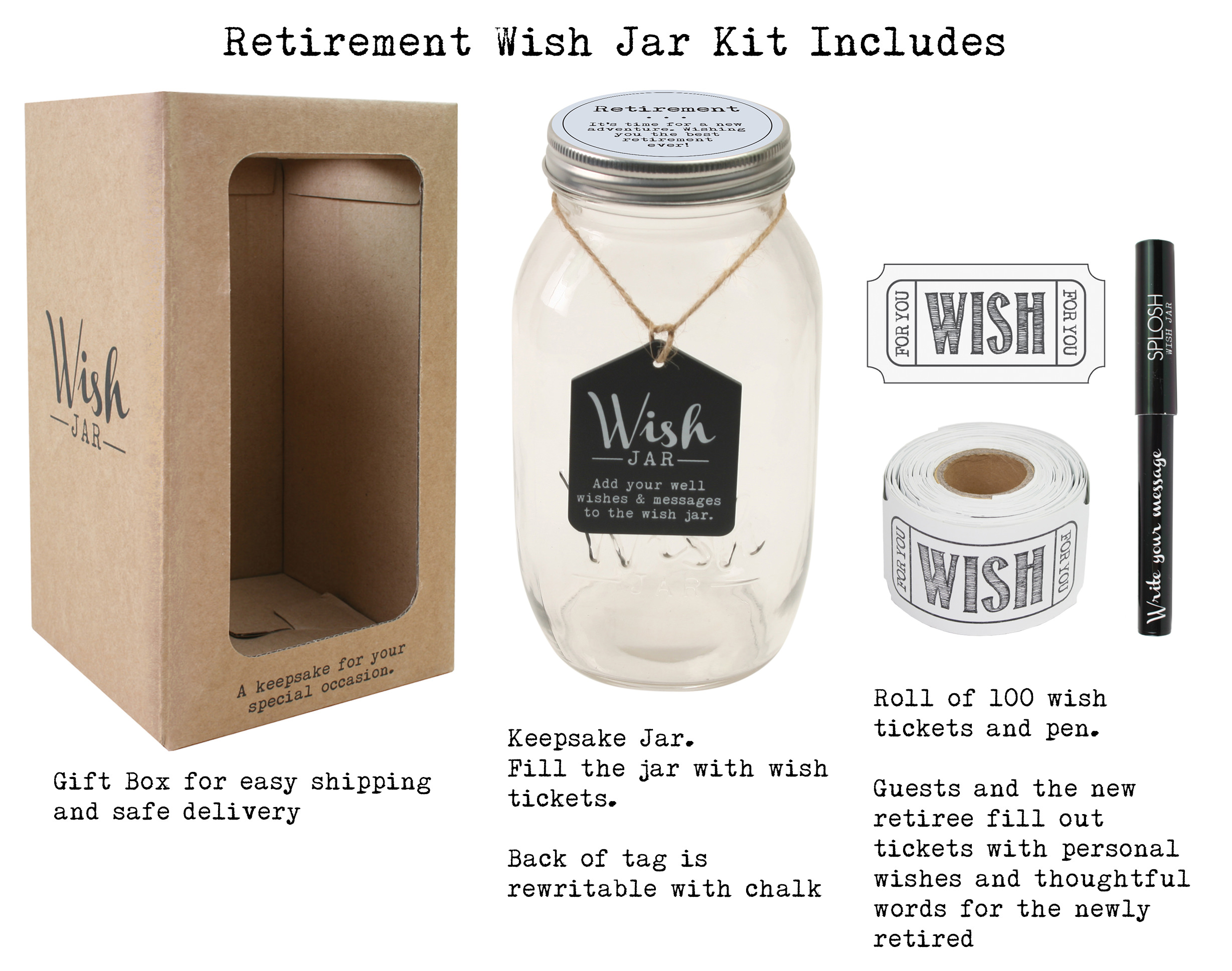 Top Shelf Retirement Wish Jar Personalized Gift For Men And Women Unique And Thoughtful Gift Ideas For Mom Dad Husband Wife Coworker Or Best Friend Kit Comes With 100