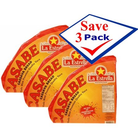 Imported cassava bread. Casabe. Natural, imported. 12 oz Pack of -