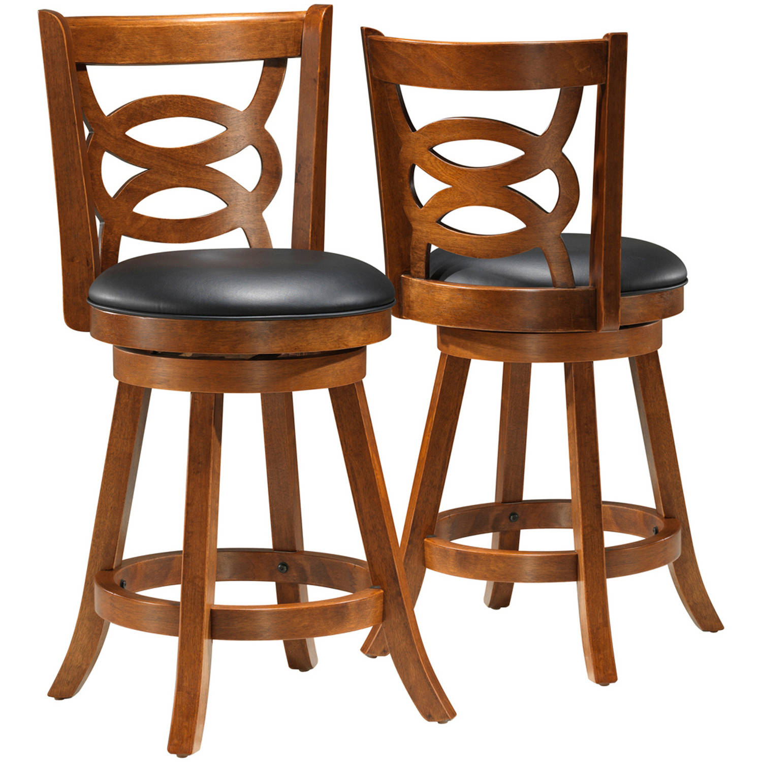 "Monarch Barstool 2Pcs / 39""H / Swivel / Oak Counter Height"