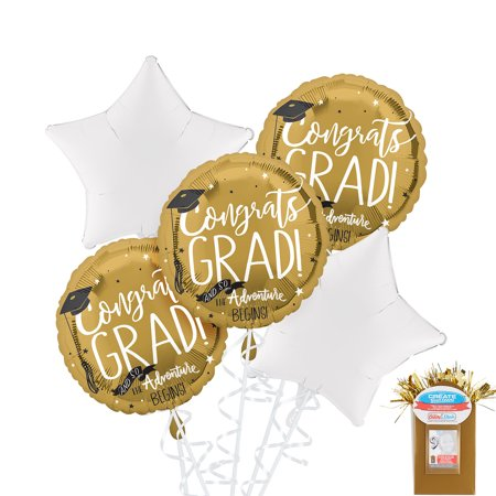 Party City Graduation Star Balloon Kit, Includes Foil Balloons, Curling Ribbon, and a Photo Balloon Weight](Party City Stafford)