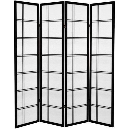 6' Tall Canvas Double Cross Room Divider ()