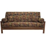 Blazing Needles 5 Pc Tapestry Futon Cover Package (Checkered Scroll)