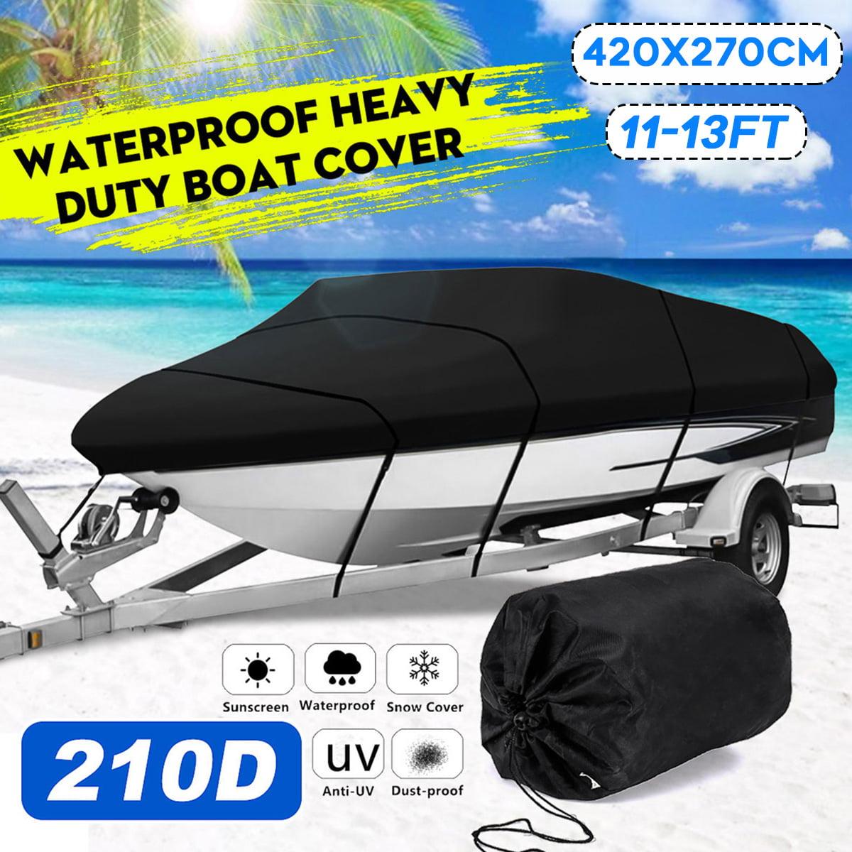 "96/"" Beam Heavy Duty Waterproof Boat Cover Fishing Ski Bass V-hull 17 18 19 Ft US"