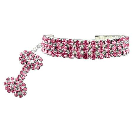 Glamour Bits Pet Jewelry Pink M  8 10