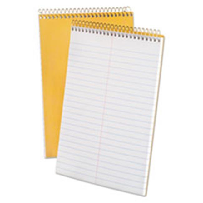 Tops Products 25476 Spiral Steno 6 x 9 Book, White - 20 lbs.