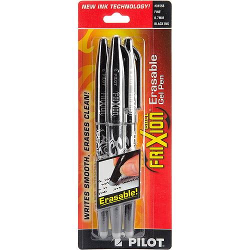 Pilot FriXion Ball Erasable Gel Pen, 3/pkg