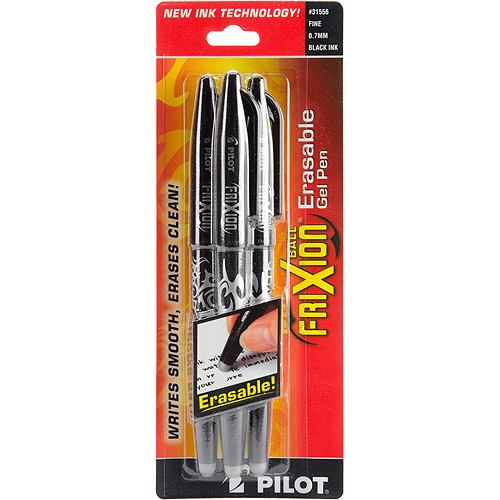 Pilot FriXion Ball Erasable Gel Pen, 3/pkg