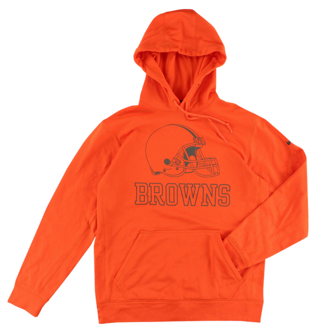 Nike Mens Cleveland Browns NFL Reflective Hoodie Brilliant Orange