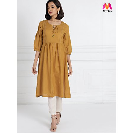 all about you from Deepika Padukone Brown Solid A-Line Kurta - image 6 de 6