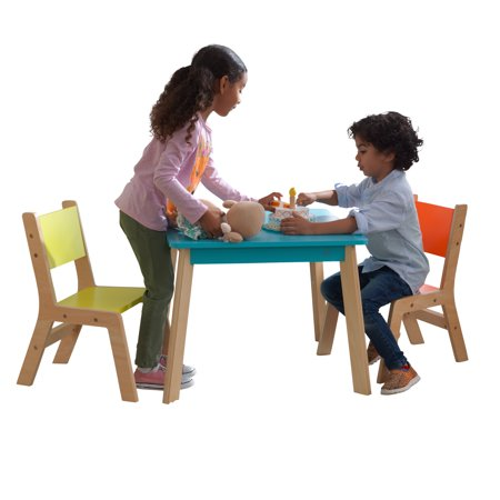 KidKraft Modern Table & 2 Chair Set - Highlighter