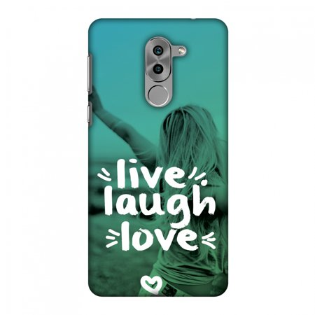 Huawei Honor 6X 2016 Case, Huawei GR5 2017 Case - Live Laugh Love,Hard Plastic Back Cover, Slim Profile Cute Printed Designer Snap on Case with Screen Cleaning Kit
