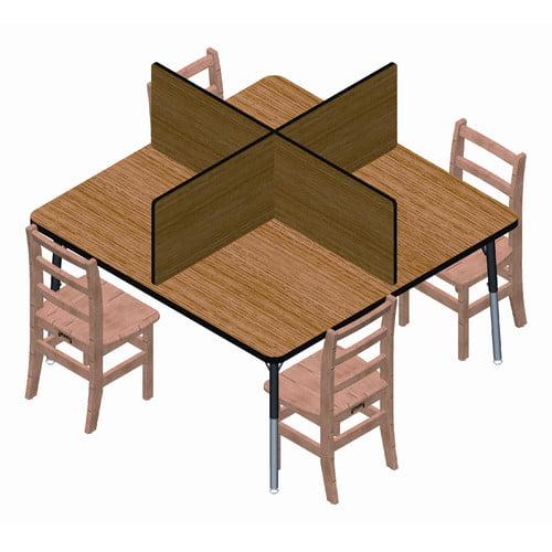 Jonti-Craft Laminate Table Top Study Carrel 4 Panel Desk Privacy Panel 14''H x 47''W (Set of 4) by Jonti-Craft