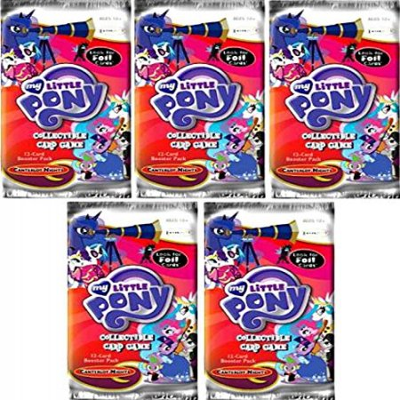 My Little Pony Canterlot night Collectible Card Game Lot of 5 Booster Packs (Night Booster)