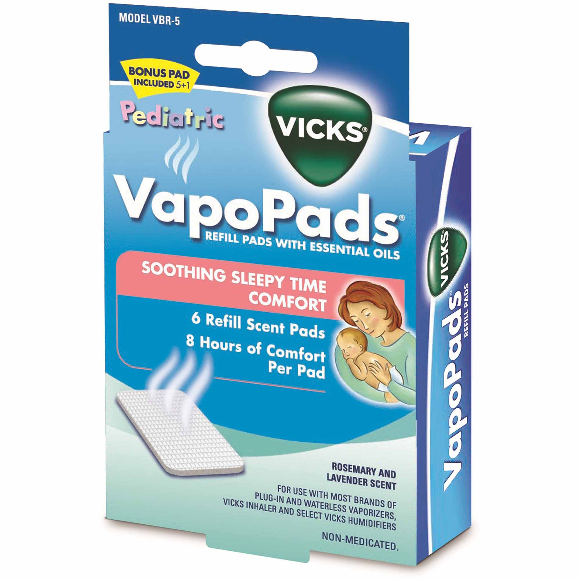Vicks Baby Rub Waterless Vaporizer Scent Pads, 6-Pack
