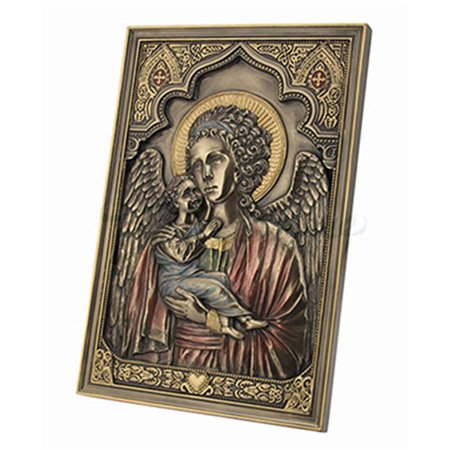 Guardian Angel Stand (Unicorn Studios WU76615A41 Guardian Angel Holding Child Wall Plaque with Stand )