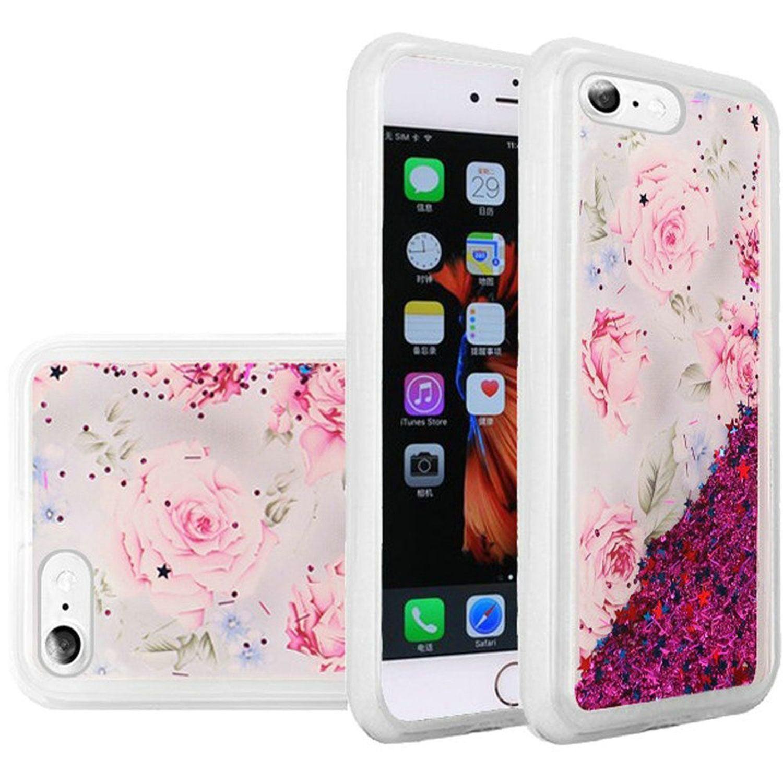 Apple iPhone 6 Plus/6s Plus Case, by HR Wireless Quicksand Antique Flower Glitter PC/TPU Rubber Case Cover For Apple iPhone 6 Plus/6s Plus - Multi-Color