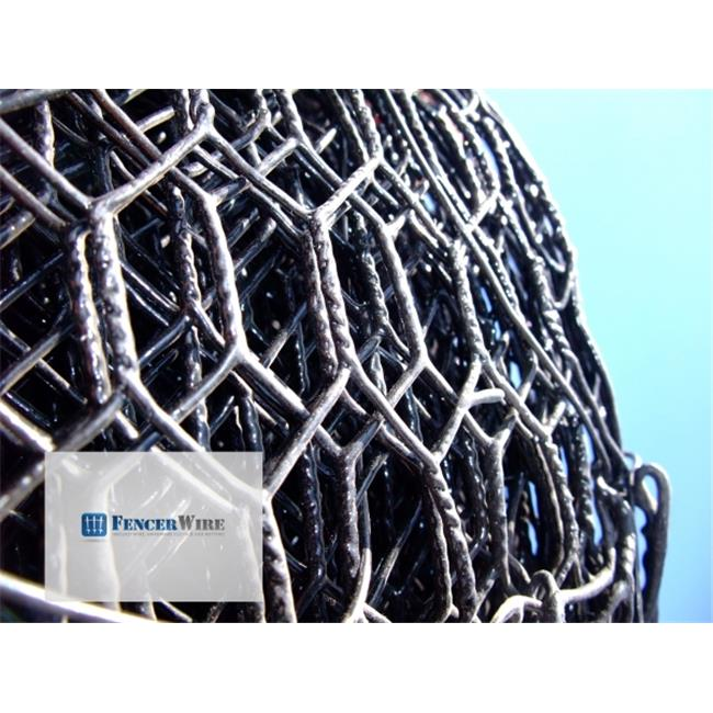 Fencer Wire NV19-B3X150MF34 150 ft.  x 12 x 36 inch Vinyl Coated Hex Netting
