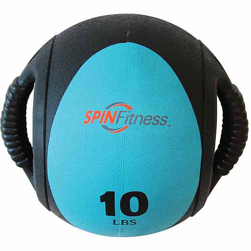 SPIN Fitness Commercial-Grade Dual Grip Medicine Ball, 10 lbs