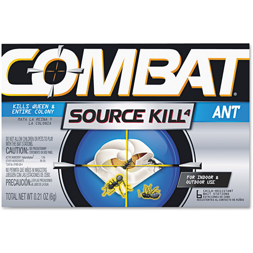 Combat Source Kill 4 Ant Bait Station, 6 count, 0.21 oz
