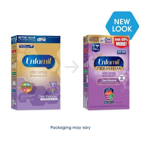 Enfamil PREMIUM Gentlease Gentle Infant Formula, Powder, 32.2 Ounce Refill Box