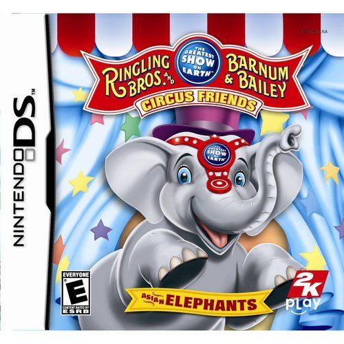 The Greatest Show on Earth Ringling Bros. and Barnum & Bailey Circus Friends Asian Elephants - Nintendo DS