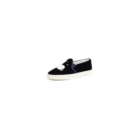 Soludos Women's Velvet Sheep Slip On Slippers, Midnight Blue, Size 10.0