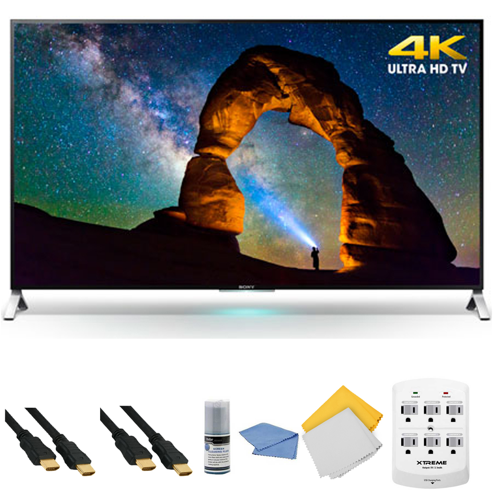 Sony XBR-65X900C - 65-inch 4K Ultra HD 3D Smart LED TV + Hookup Kit