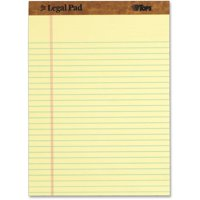 TOPS The Legal Pad Writing Pads (12 Pack), Legal Rule, 50 Sheets, Canary, (7532)