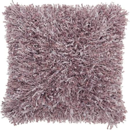 Nourison Shag Solid Lavender Decorative Throw Pillow , 20