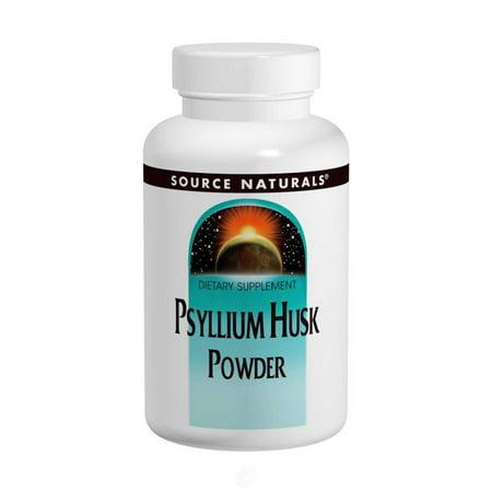 Source Naturals - Psyllium Husk Powder, 12 oz (340 g), Pack of 2 (340 Natural)