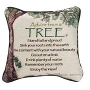 Manual Woodworkers & Weavers Advice from a Tree Throw Pillow